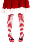 Santa helper legs toes together royalty free stock photos