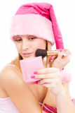 Santa helper's makeup Stock Image