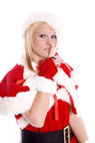 Santa helper shhhh Stock Images