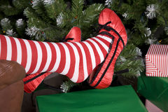 Santa helper shoes Stock Photo