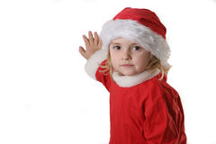 Santa helper on the snow Royalty Free Stock Photo