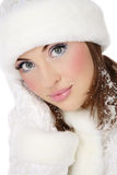 Santa helper with snowflakes Royalty Free Stock Images