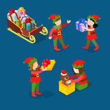 Santa helper troll children Christmas flat isometric vector 3d Stock Image
