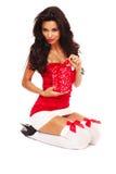 Santa helper on white background Royalty Free Stock Images