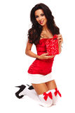 Santa helper on white background Stock Photography