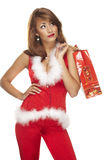Santa helper on white background Stock Image