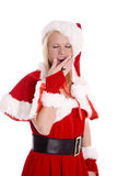 Santa helper yawning Stock Photo
