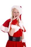 Santa helper yawning Stock Photo