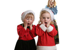 Santa helpers AH! Royalty Free Stock Image