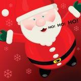 Santa heureuse Photos libres de droits