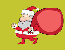 Santa heureuse illustration stock