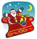 Santa heureuse Images libres de droits
