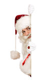 Santa hiding border Stock Image