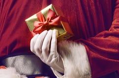 Santa hiding surprise Stock Photography