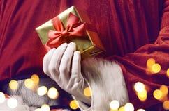 Santa hiding surprise Royalty Free Stock Photography