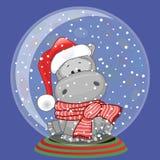 Santa Hippo Imagen de archivo libre de regalías