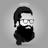 Santa hipster. Symbol design on gray background Royalty Free Stock Photography