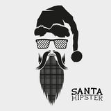 Santa Hipster Vector Photo libre de droits