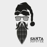 Santa Hipster Vetor Foto de Stock Royalty Free