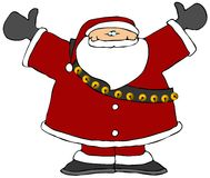 Santa With His Arms Raised. This illustration depicts Santa Claus with both arms raised Royalty Free Stock Image