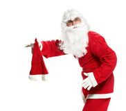 Santa with his hat off Royalty Free Stock Photography