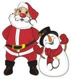 Santa and his helper Royalty Free Stock Image