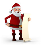 Santa with his List Royalty Free Stock Image