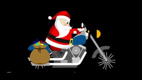 Santa on his motorbike.