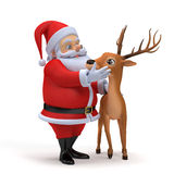 Santa and his reindeer Royalty Free Stock Photography