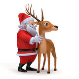 Santa and his reindeer Stock Photography