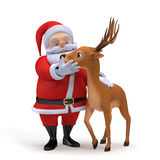 Santa and his reindeer Stock Photo