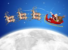 Santa in his sled Stock Image