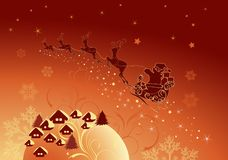 Santa and his sleigh. For your design Stock Images