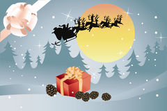 Santa and his sleigh Royalty Free Stock Images