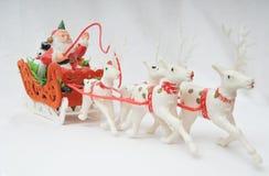 Santa on his sleigh Stock Photography