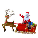 Santa with his sleigh Royalty Free Stock Image
