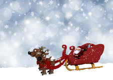 Santa in his sleigh Stock Photography