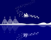 Santa in his sleigh Royalty Free Stock Photography