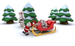 Santa and his sleigh Royalty Free Stock Photos