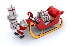 Santa and his sleigh Royalty Free Stock Image