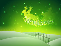 Santa on his sleigh, Christmas background. Royalty Free Stock Image