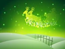 Santa on his sleigh, Christmas background. Royalty Free Stock Image