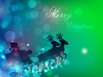 Santa on his sleigh, Christmas background. Royalty Free Stock Images