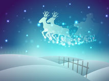 Santa on his sleigh, Christmas background. Stock Images