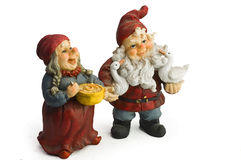Santa and his wife. On a white background Royalty Free Stock Photography