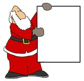 Santa holding a blank sign II Stock Photography