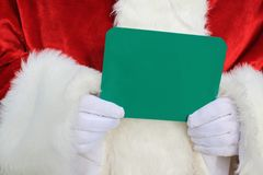 Santa Holding Chalkboard Sign 2 Royalty Free Stock Photo