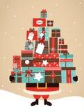 Santa Holding Christmas Gifts libre illustration