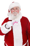 Santa holding credit card Royalty Free Stock Image