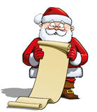 Santa Holding a Gift List Royalty Free Stock Images